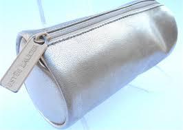 Designer Leather Makeup Bag Vintage Gold Bag Gold Clutch Gold Metallic Bag Vintage Estee