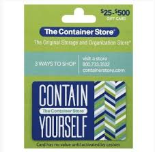 Free 100 dollar gift card. Free 100 Gift Card To The Container Store