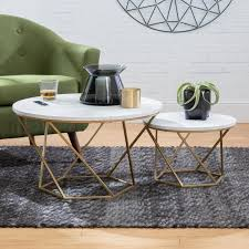 modern nesting coffee table set