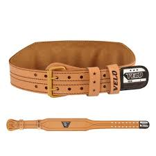 velo 4 inch leather weight lifting belt lp5