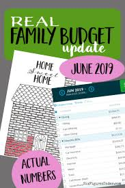 Family Budget For A Month Real Family Budget Update June 2019 Six Figures Under