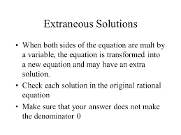steps to solve rational equations 1 find the lcd 2 multiply every term on