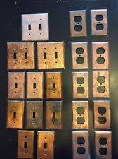 copper outlet covers. Brilliant Outlet 21 VTG Pcs Copper Coated Variety Receptacle Single Double Light Switch  Plates Inside Outlet Covers I