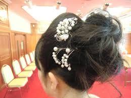 楽天市場浴衣 髪飾り パールの花簪かんざし 成人式 結婚式 和装 着物