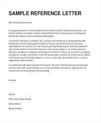 Recommendation Letter For Student Scholarship Sample Of Reference Letter For Student Cover Letter Sample For