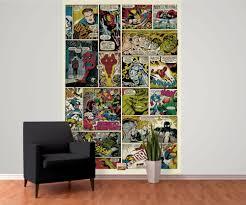 Marvel Bedroom Wallpaper Avengers Comic Marvel Wall Mural Buy At Europosters
