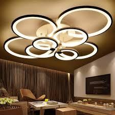 <b>rings</b> white finished <b>chandeliers LED</b> circle <b>modern chandelier</b> lights ...