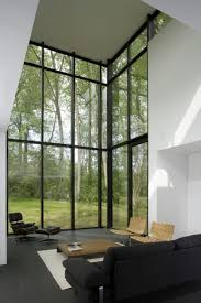 glass wall living room