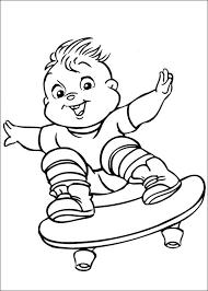 Kids N Fun Kleurplaat Alvin En De Chipmunks Theodore
