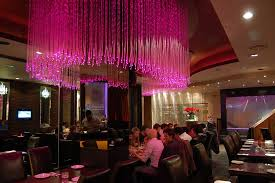 fiber optic chandelier in the curry lounge restaurant