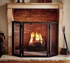 Industrial Fireplace Triple Screen