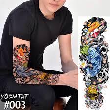 11422 руб 10 скидкановый 4817 см полный тату цветок на руку стикер японский стиль