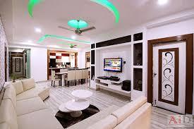 residence in indirapuram living room by archint designs pvt ltd