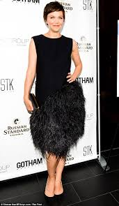 black bird maggie gyllenhaal attended the gotham magazine summer party on wednesday in a fun