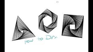 How To Draw A Geometrical Chart How To Draw Geometric Whirl Doodles