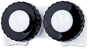 Pouzdro černo Bílé Lr Pouzdro Na Kontaktní čočky Alzacz