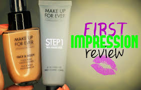 first impression review makeup forever face body foundation step 1 primer you