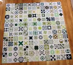 all in green - her comments per block are worth reading! | Quilts ... & Mini quilts Adamdwight.com