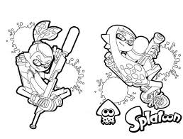 Splatoon Coloring Pages Get Coloring Page