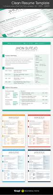 clean resume template 5 colors resume