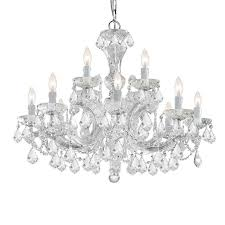 crystorama maria theresa 12 light clear spectra crystal chandelier