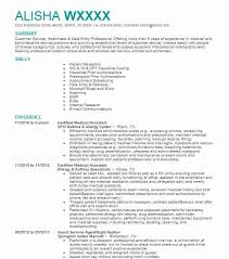 Medical Assistant Resume Samples Custom Certified Medical Assistant Resume Sample LiveCareer