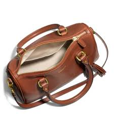 for lyst coach legacy mini satchel in leather in brown 1e4a0 ed6ef