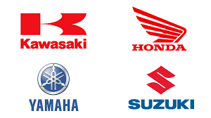 yamaha motorcycle logo. Plain Logo Embrems Of KawasakiHONDA SUZUKI YAMAHA In Yamaha Motorcycle Logo L