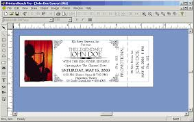 Raffle Ticket Template Publisher Microsoft Publisher Ticket Template Blank Event Ticket Template