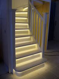 view in gallery basement stairs with led lighting