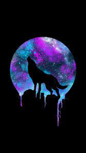 Wolf Howling at the Moon Galaxy ...