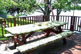 stay put elastic tablecloth fitted picnic table cover set custom image of 60 round