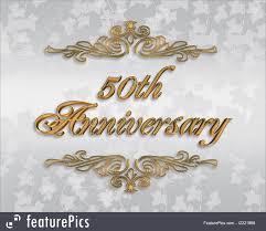 50th wedding anniversary invitation royalty free stock ilration