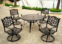 black wrought iron outdoor furniture. Iron Patio Table Set Lovely Furniture Black Wrought Outdoor With O