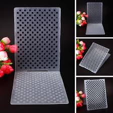 details about small dots plastic embossing folders for diy card making decora supplies bdu