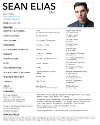 Performance Resume Manager Sample Imposing Templates Musical Theater