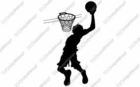 バスケットボール ダンクシュート クリップアート年賀状戌年の年賀状