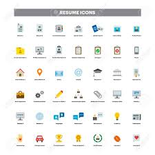 Resume Icons CV And Resume Color Flat Icons Royalty Free Cliparts Vectors And 23