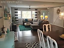 dining room living room combo design ideas. retro ranch reno: black and white geometric rug rugs usa\u0027s winsdor overdyed grove · navy living roomsred curtains roomliving dining combocute room combo design ideas l