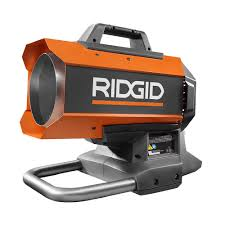 Portable Battery Heater Ridgid 18 Volt Hybrid Forced Air Heater R860424b The Home Depot