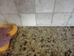 caulking kitchen backsplash. Continue To Use The Sponge Finished Caulk Caulking Kitchen Backsplash