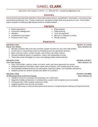 Resume Summary Examples Entry Level ...