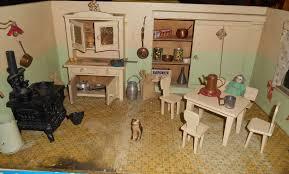 Dolls House Kitchen Furniture Estate Antique German Doll House Kitchen Furnitures Acces