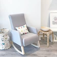 grey rocking chair. Modren Rocking Rocking Chair Natural Wood  Grey Linen And