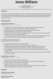 17 Templates Samples Of Resume Template On Microsoft Word Free