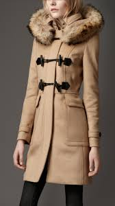 burberry fur trim hooded duffle coat 38448801 001 iluxdb