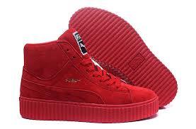 puma high top sneakers. women\u0027s puma classic retro high-top shoes red high top sneakers