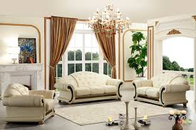 ... Divani Casa Cleopatra Traditional Leather Couch Set 27: Attractive  cream couches
