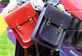 the leather satchel co company handbag satchel backpacks red and blue
