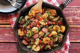 healthy shrimp dinner recipes. Beautiful Shrimp 20Minute Shrimp U0026 Sausage Paleo Skillet Meal Inside Healthy Dinner Recipes I